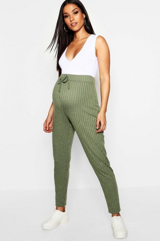 Maternity Rib Straight Leg Trouser