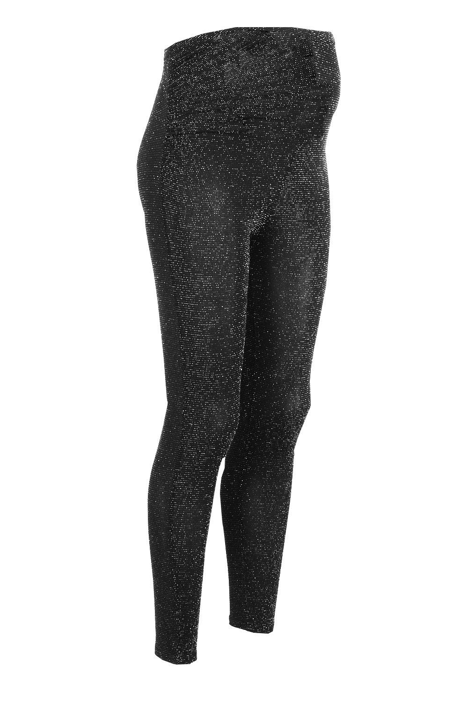Leggings metálicos negro Premamá metálicos Premamá Leggings Udxw1q