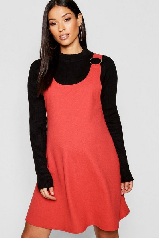 Maternity Horn Ring Dungaree Dress