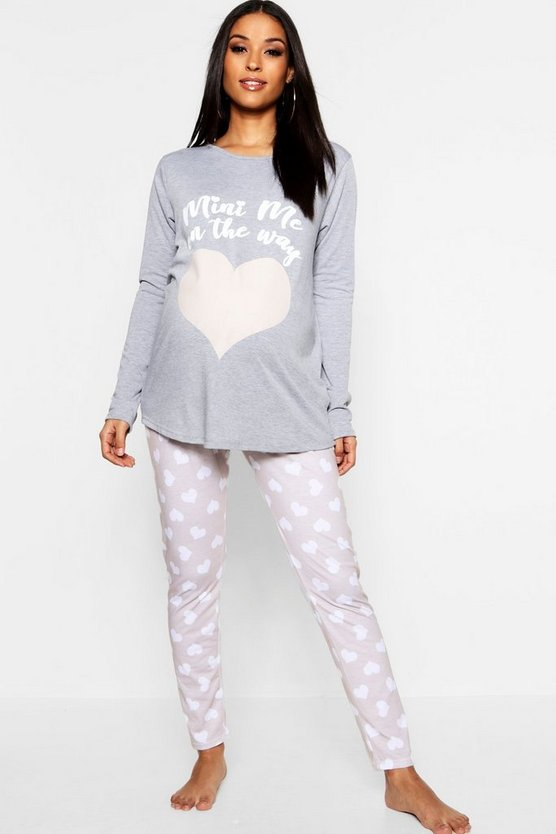 Grey Maternity Mini Me PJ Set