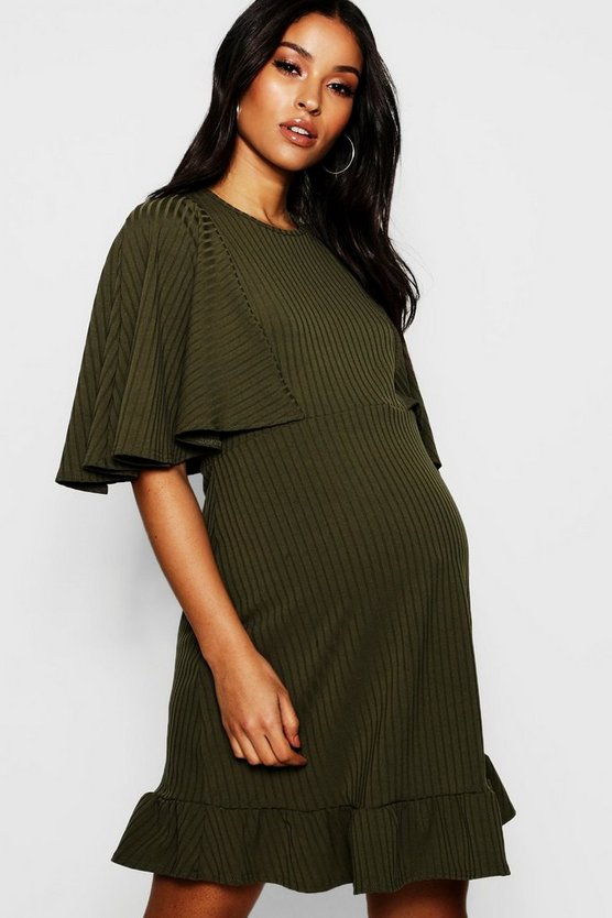 Maternity Bat Wing Swing Dress