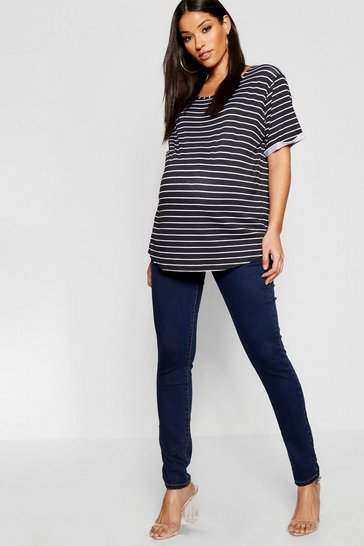 Dark blue Maternity Over The Bump Skinny Jean