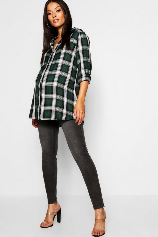 Maternity Charcoal Over The Bump Skinny Jean