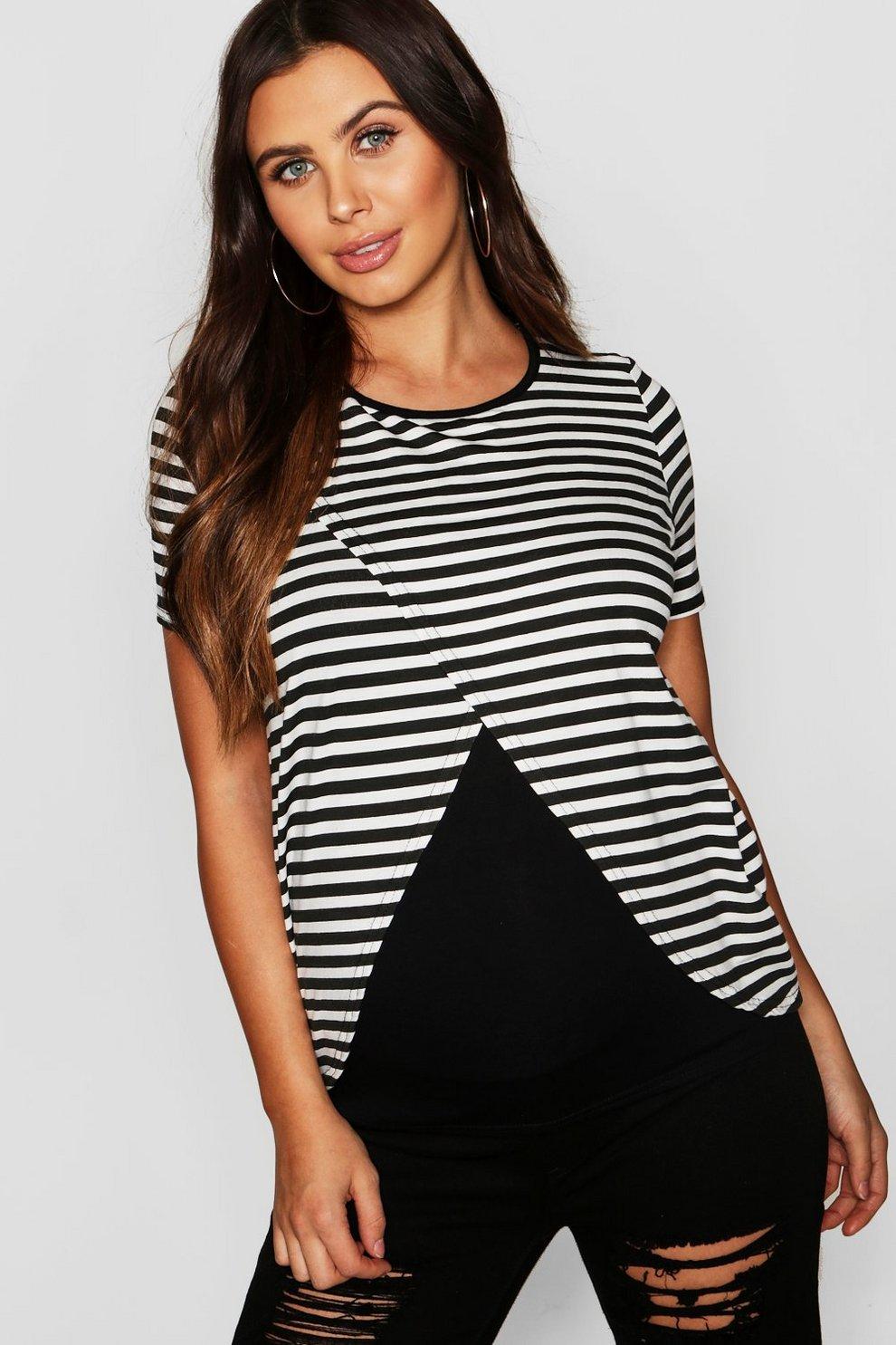 74eef54494e76 Womens Black Maternity Nursing T Shirt