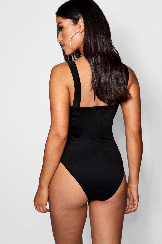 black Maternity Maternity V Bar Bodysuit V WnqY0HwY7