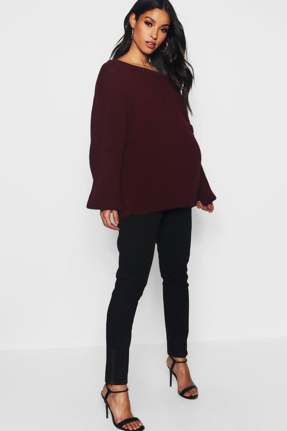 Maternity Over The Bump Skinny Jeans With Zips