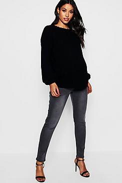 Maternity Grey Over The Bump Skinny Jean