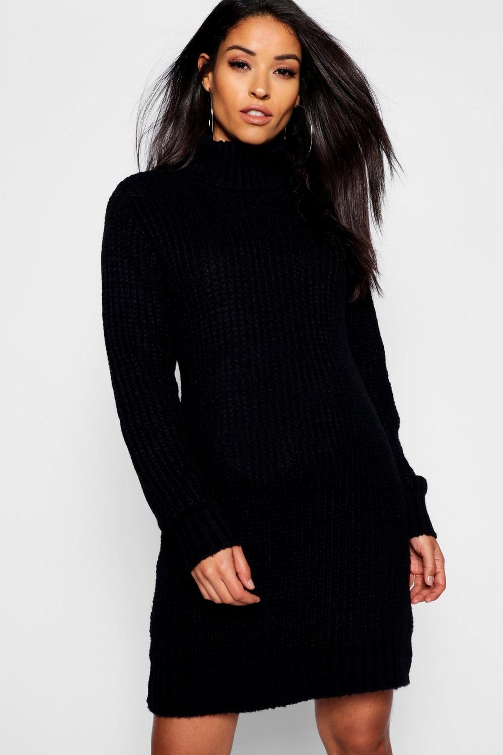 promotion matching in colour super cheap Maternity Soft Knit Roll Neck Jumper Dress | Boohoo