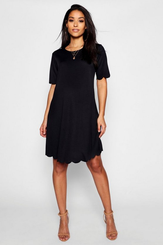 Maternity Scallop Edge Shift Dress