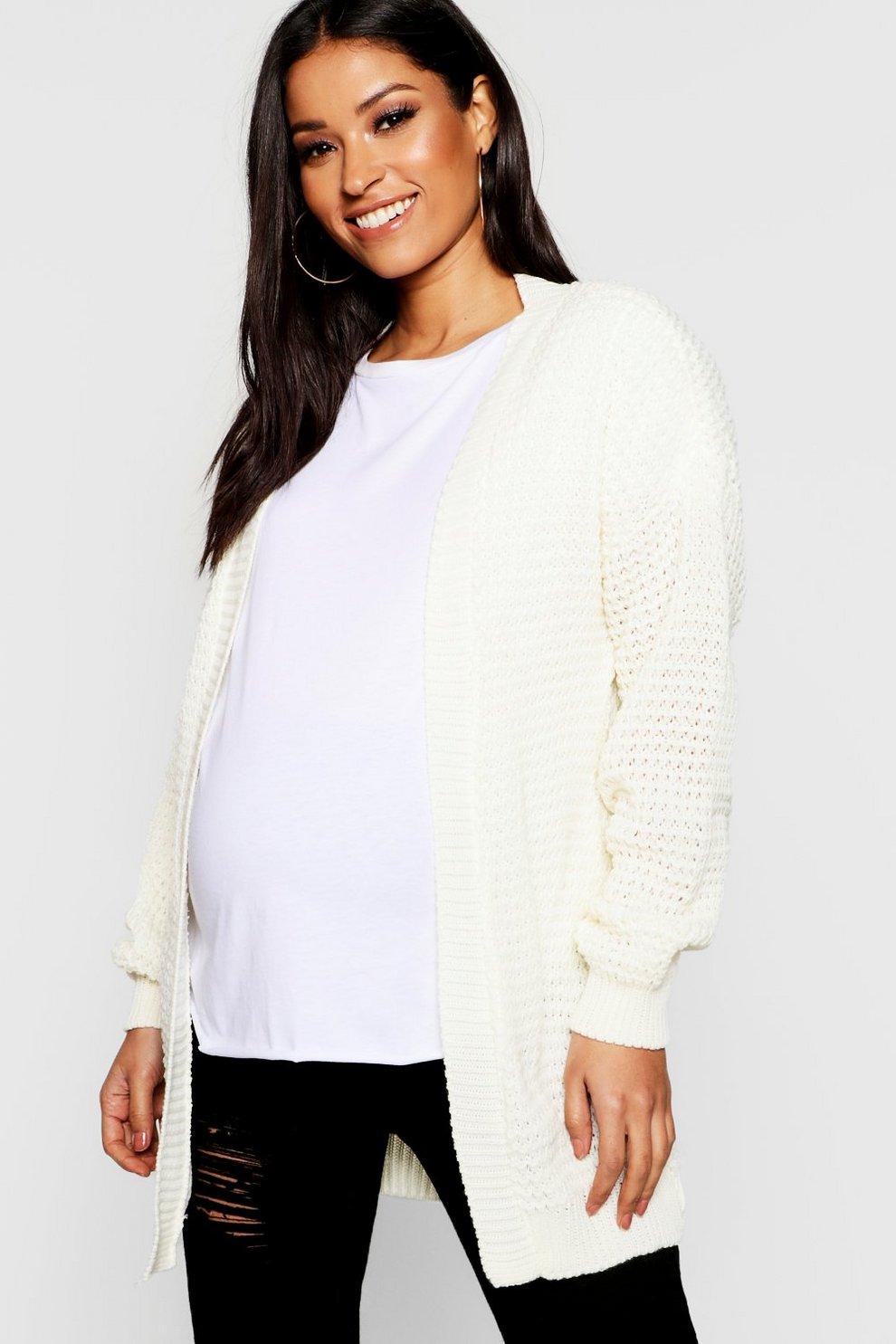 6d7b84f6d491 Maternity Waffle Knit Cardigan