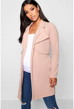Maternity Double Breasted Duster Jacket, Stone