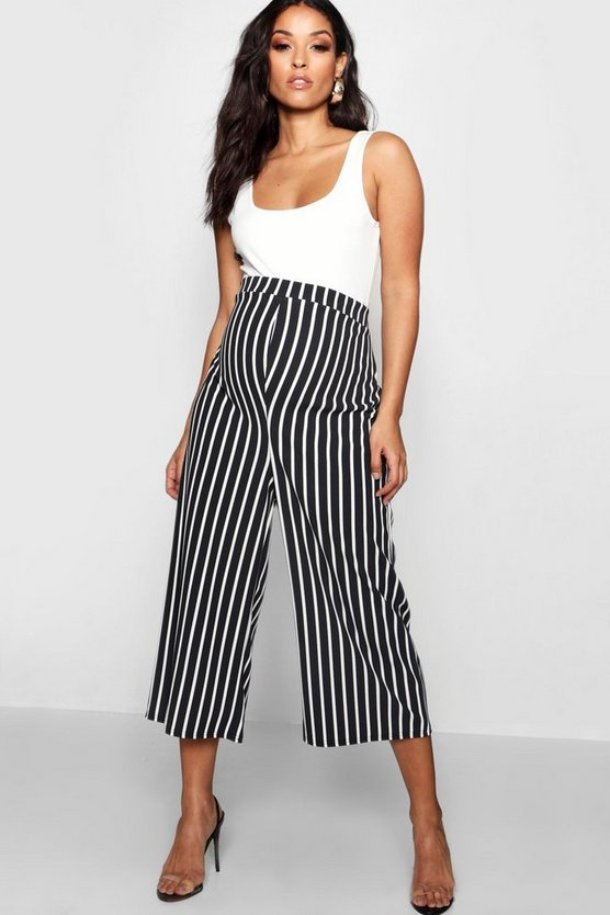 Maternity Stripe Culotte Trouser