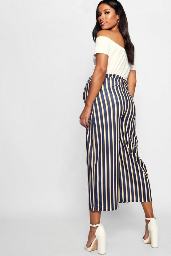 Maternity Stripe Culotte Pants