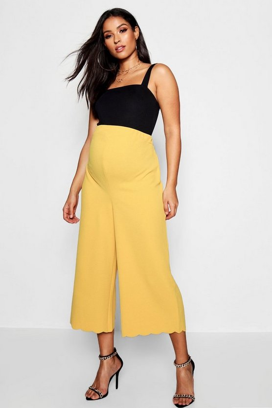 Maternity Scallop Edge Culotte