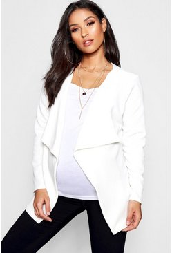 Ivory Maternity Waterfall Jacket