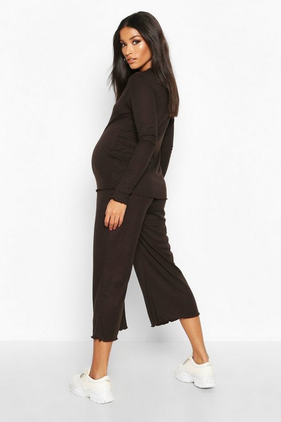 Maternity Rib Culotte Co Ord Set