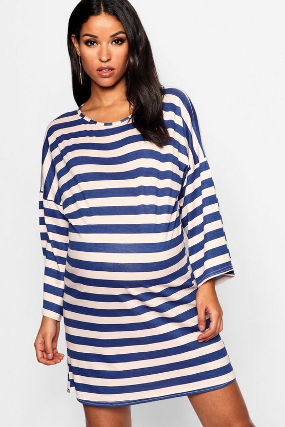 Maternity Stripe Tshirt Dress