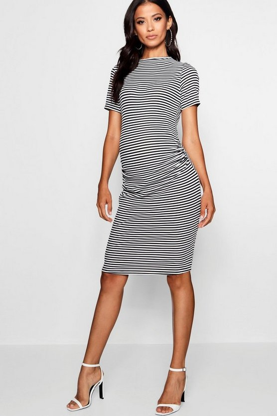 Maternity Basic Rib Bodycon Dress