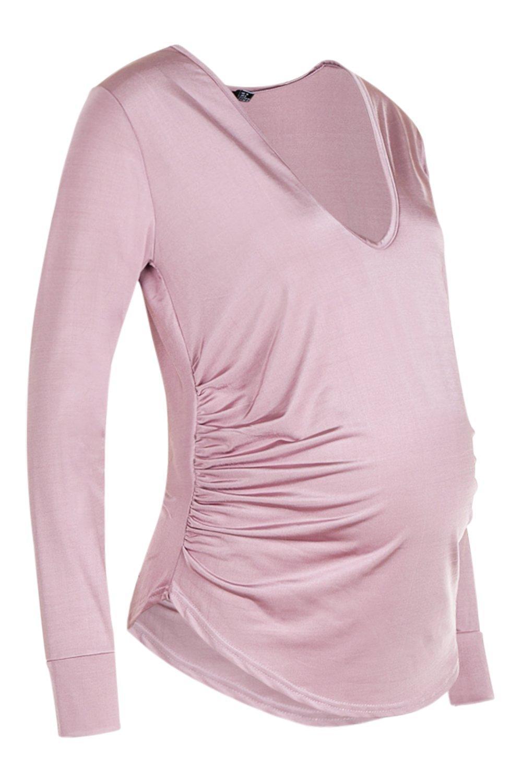 pálido rosa rosa elegante Premamá pálido Blusón elegante Blusón Premamá 40Hp1q8fw