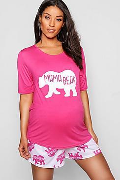 Maternity Mama Bear Cute PJ Set