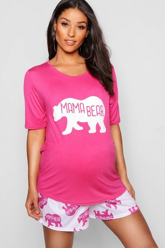 Maternity Mama Bear Cute PJ Set