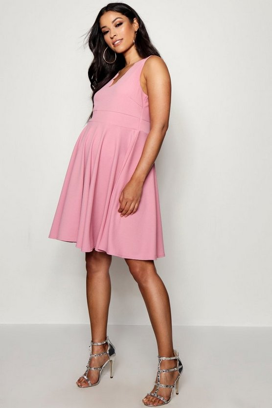 Maternity Scallop Edge Skater Dress