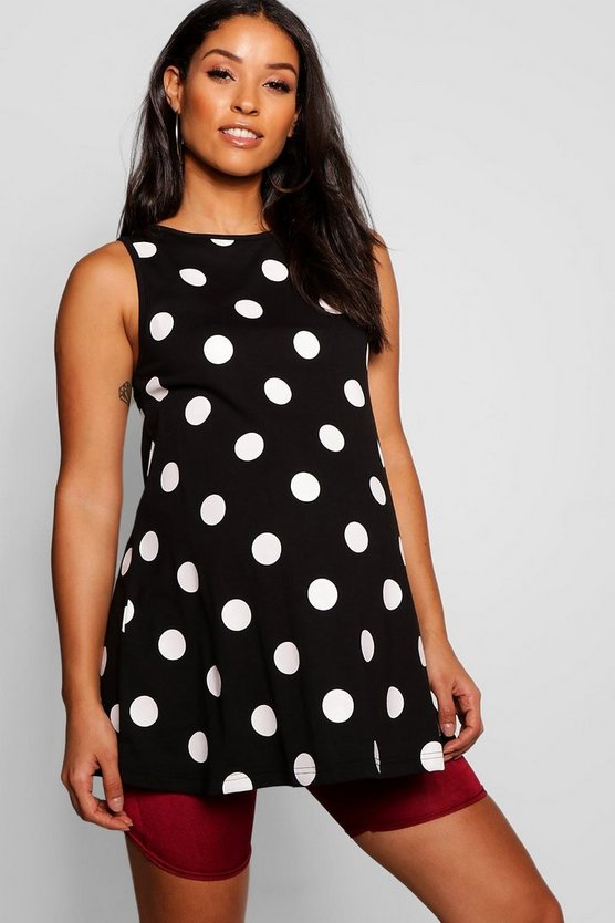 Maternity Polka Dot Swing Top