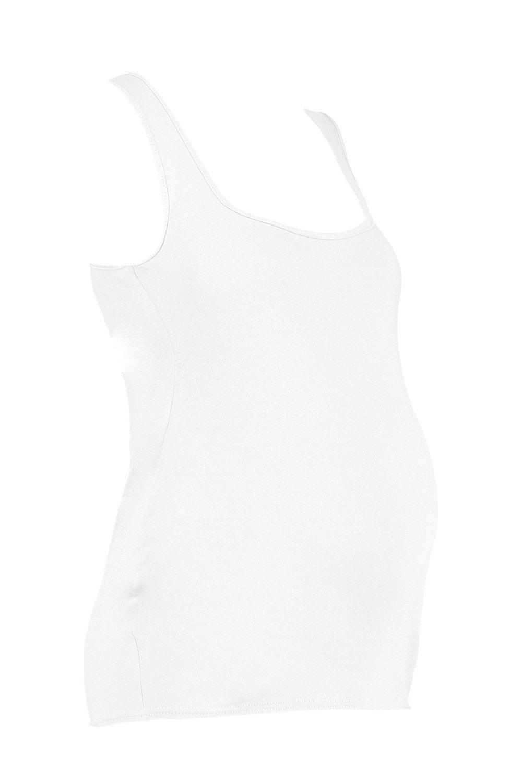 cuello cuadrado Chaleco con blanco premamá 78nqWgn