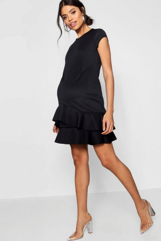 Maternity Ruffle Skater Dress
