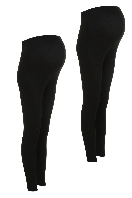 encima negro leggings por 2 Pack barriga de de Premamá xIZ8qw