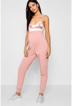 Womens Blush Maternity Tess Over The Bump Lounge Jogger