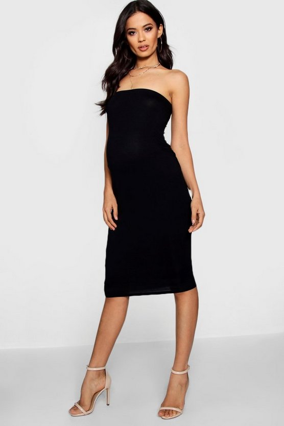 Maternity Bandeau Bodycon Midi Dress