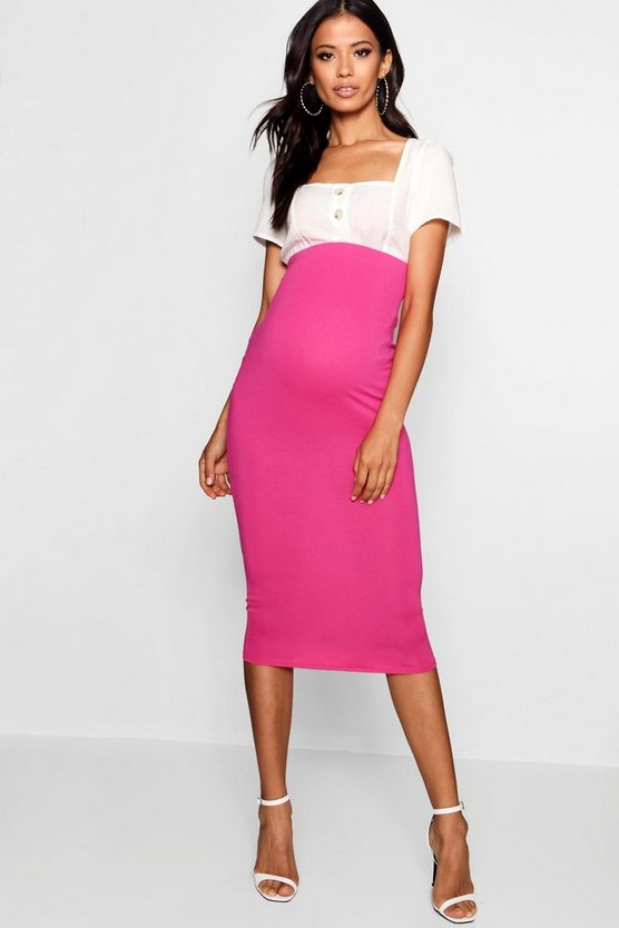 Maternity Over The Bump Midi Skirt