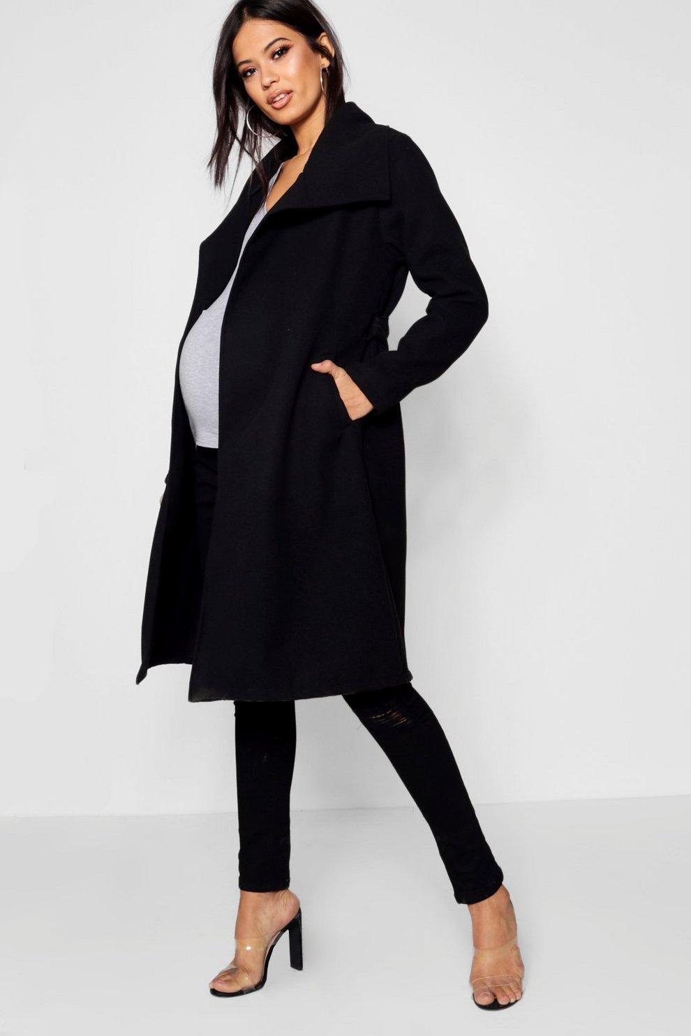 9b08949ee79055 Manteau de maternité oversize effet cascade | Boohoo