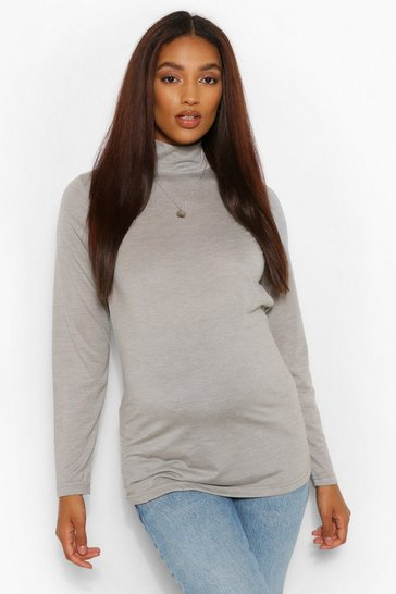 Womens Multi Maternity Roll Neck 2 Pack Top