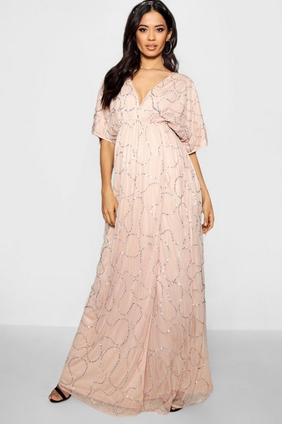 Maternity Wedding Plunge Wrap Front Maxi