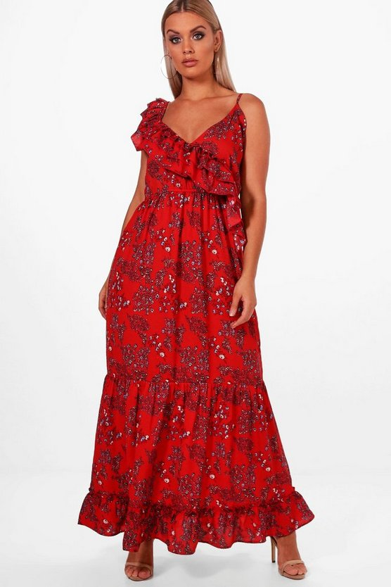 Plus Rhyla Ruffle Maxi Dress