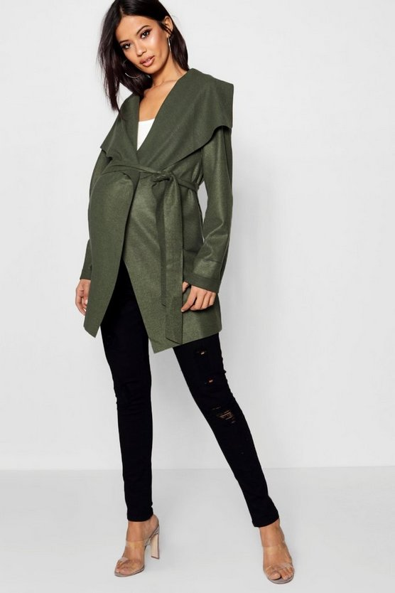 Maternity Waterfall Wrap Jacket