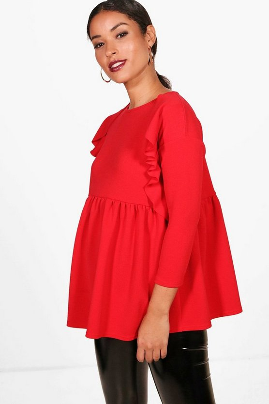 Maternity Ruffle Detail Smock Top