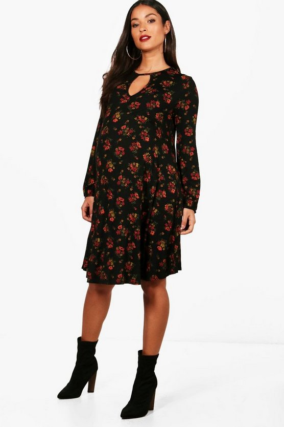 Maternity Chelsea Floral Swing Dress