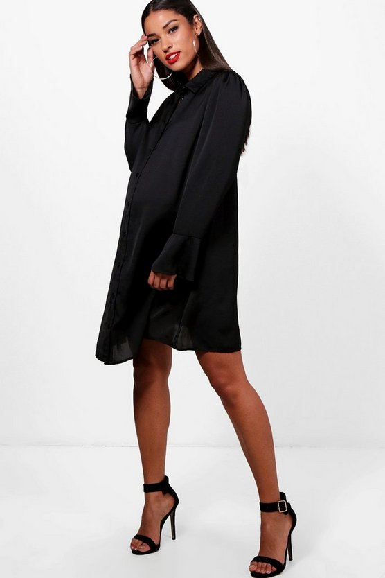 Maternity Katie Long Sleeve Shirt Dress