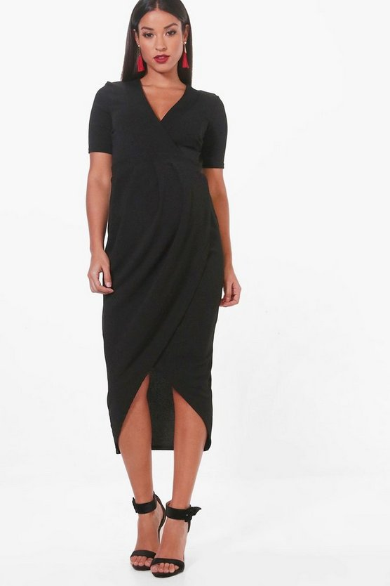 Maternity Jessica Wrap Midi Dress
