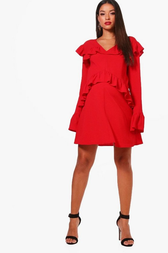 Maternity Ruffle Shift Dress