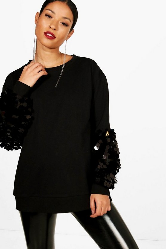 Maternity Sequin Oversized Jumper