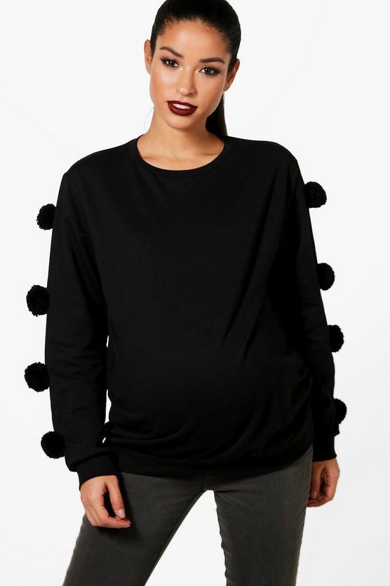 Maternity Pom Pom Sweat