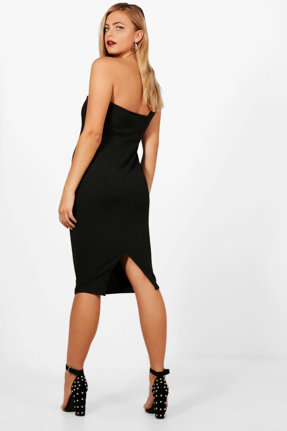 Boohoo-Maternity-Nina-One-Shoulder-Plunge-Neck-Midi-Dress-para-Mujer
