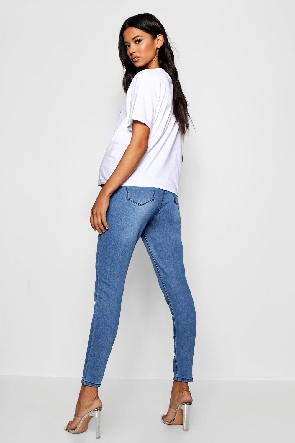 Bump Skinny Maternity Jean Over The blue Bwtqvtd