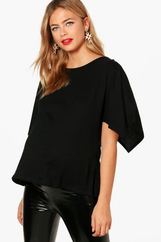 Maternity Oversized Side Split T-Shirt