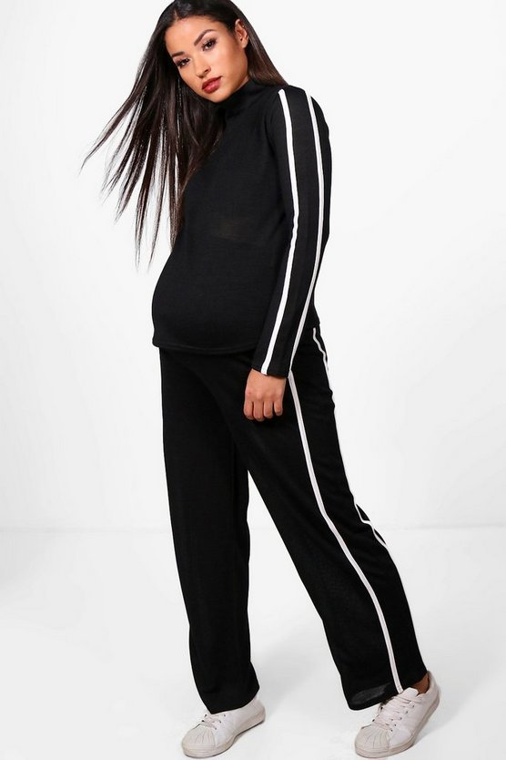 Maternity Nadia Roll Neck Lounge Top & Jogger