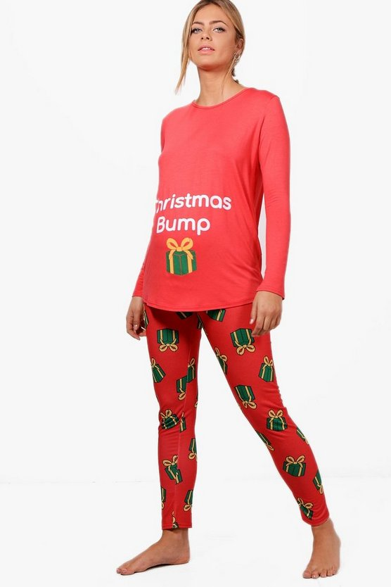 Maternity Christmas Bump Pyjama Set